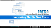 Importing Netfix Test Plan